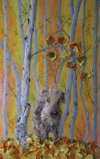 The Wild Birch Wood Boar
