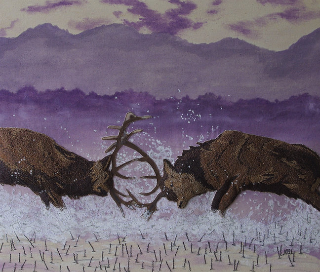 Stags At Dusk
