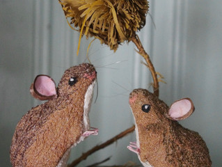 Two Mice and A Teasel