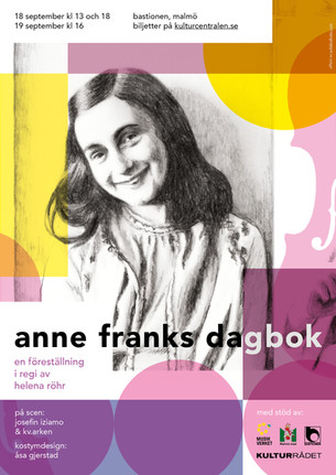 Poster for theatre play about Anne Frank, 2021