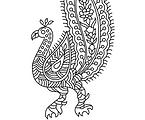 Block Printing Peacock
