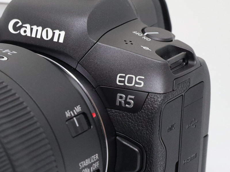 Close up look at the Eos R5