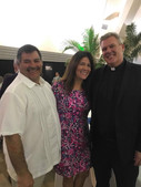 Brother Puglise and Lynne with  Father Don.