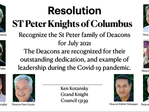 The Deacons of St Peter Parish - August 2021 Family of the Month