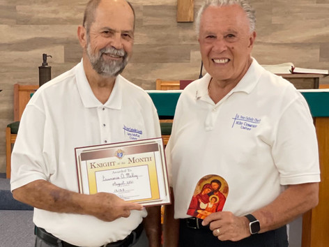 Larry McKay - August 2021 Knight of the Month