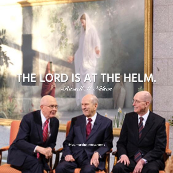 The Lord is at the helm. -Russell M. Nelson Joseph Brickey Risen Hope Resurrection