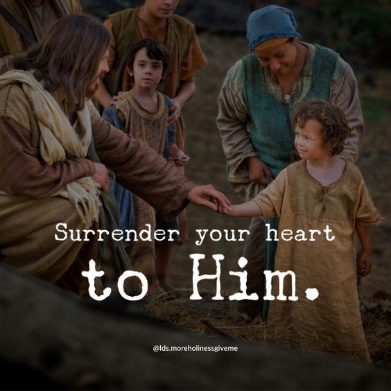 Surrender your heart to Jesus Christ. Broken heart and contrite spirit. Atonement