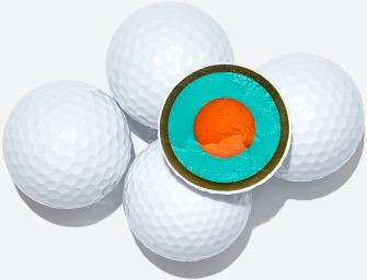 golf ball, multilayer, solid core, surlyn urethane, multicompound, butyl propolene compound, dimples, swing speed, ball speed,