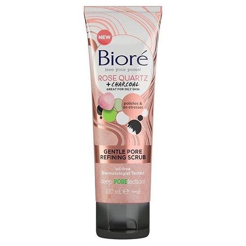 Biore Rose Quartz Pore Scrub 110ml