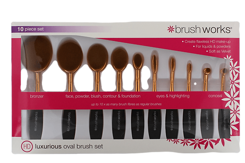 Brush Works  Luxurious  Oval  Brush 10PC