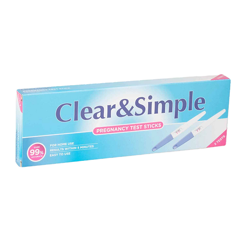 Clear & Simple Pregnancy Test - Twin pack