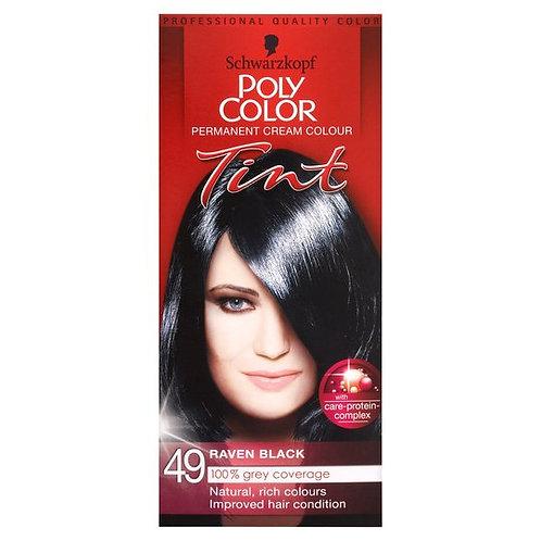 Schwarzkopf Poly Col Tint Raven Black Hair Color