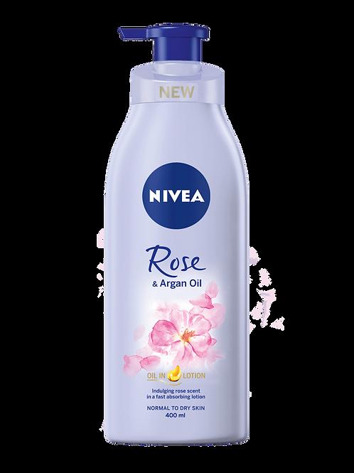 Nivea Body Lotion, Rose & Argan Oil 400ml