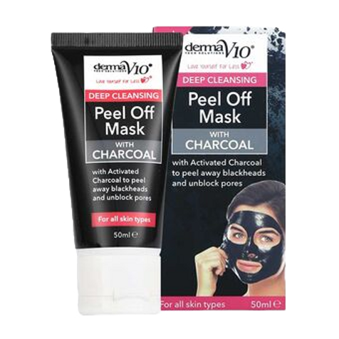 Derma V10 Peel Off Mask with Charcoal