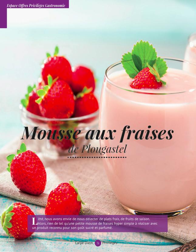recettemousse aux fraises
