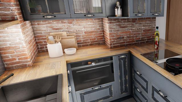 návrh interiéru RD - kuchyňa