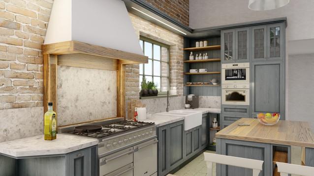 návrh interiéru - kuchyna - Kremnica