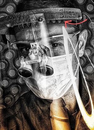 Protetor Facial (Faceshield para Fotóforo e Lupa)