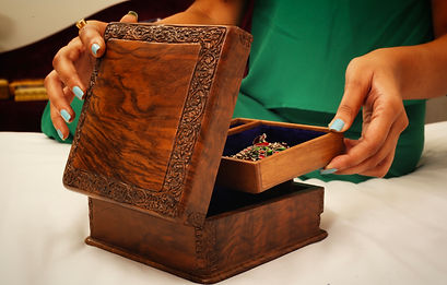 Carved Walnut Wood Box