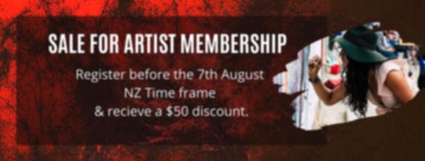 Artist sale membership
