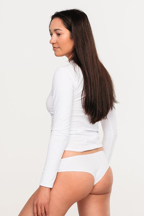 Bio cotton CHEEK white undies / 3-pack