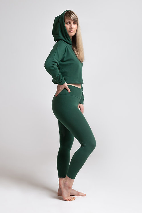 Organic cotton leggings / OLIVE GREEN