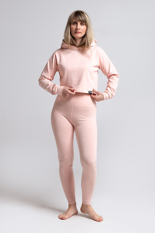 Organic cotton leggings / POWDER PINK