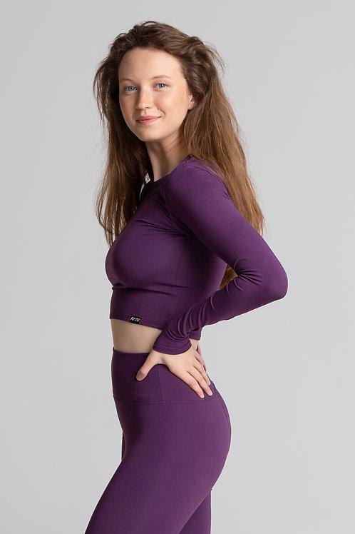 PLUM cropped long sleeve top