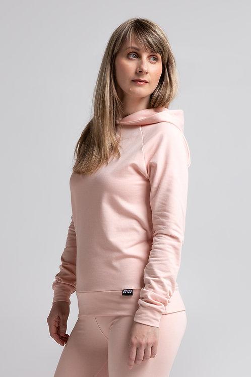 Organic cotton pullover sweatshirt / POWDER PINK