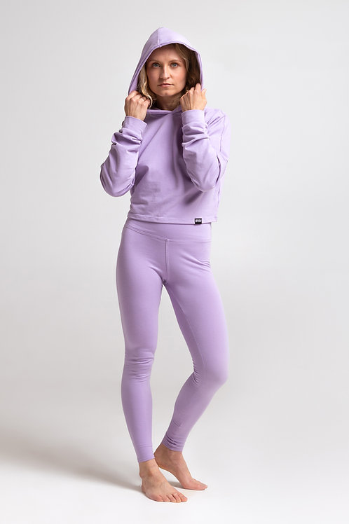Organic cotton leggings / LILAC