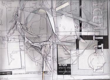 Collage in found ballet booklet,30/15cm,2007