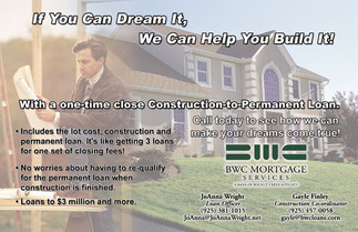Ad for BWC Mortgage Services