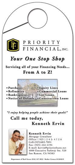 Door Hangerfor Priority Financial