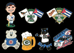 Various Pins for MLB, NFL and Nascar