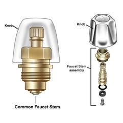Faucet Stem for Homewarehouse.com