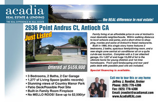 Ad for Acadia Real Estate and Lending