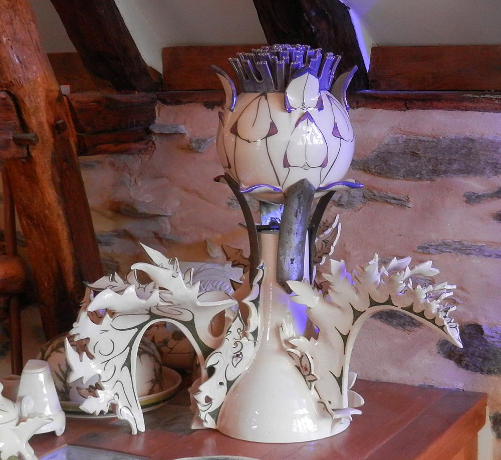Giant artichoke sculpture, feel inspired