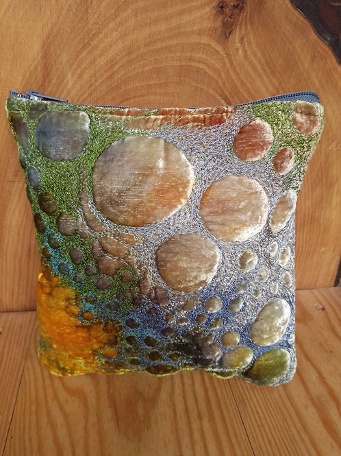 Silver/yellow ochre scatter pillow