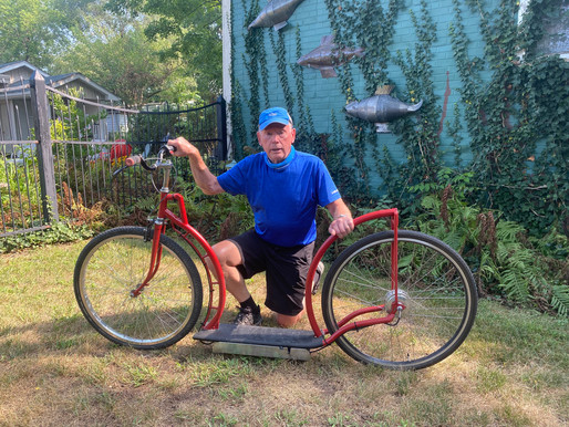 Born tinkerer crafts e-scooters from old bicycles, steel tubing