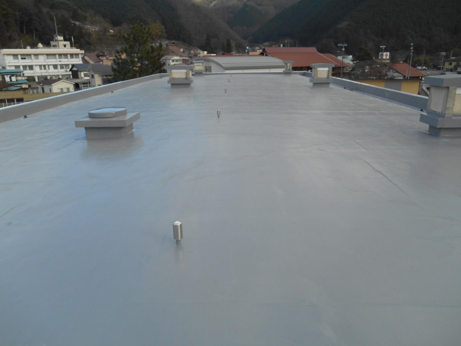 広島県立加計高等学校屋上防水改修工事