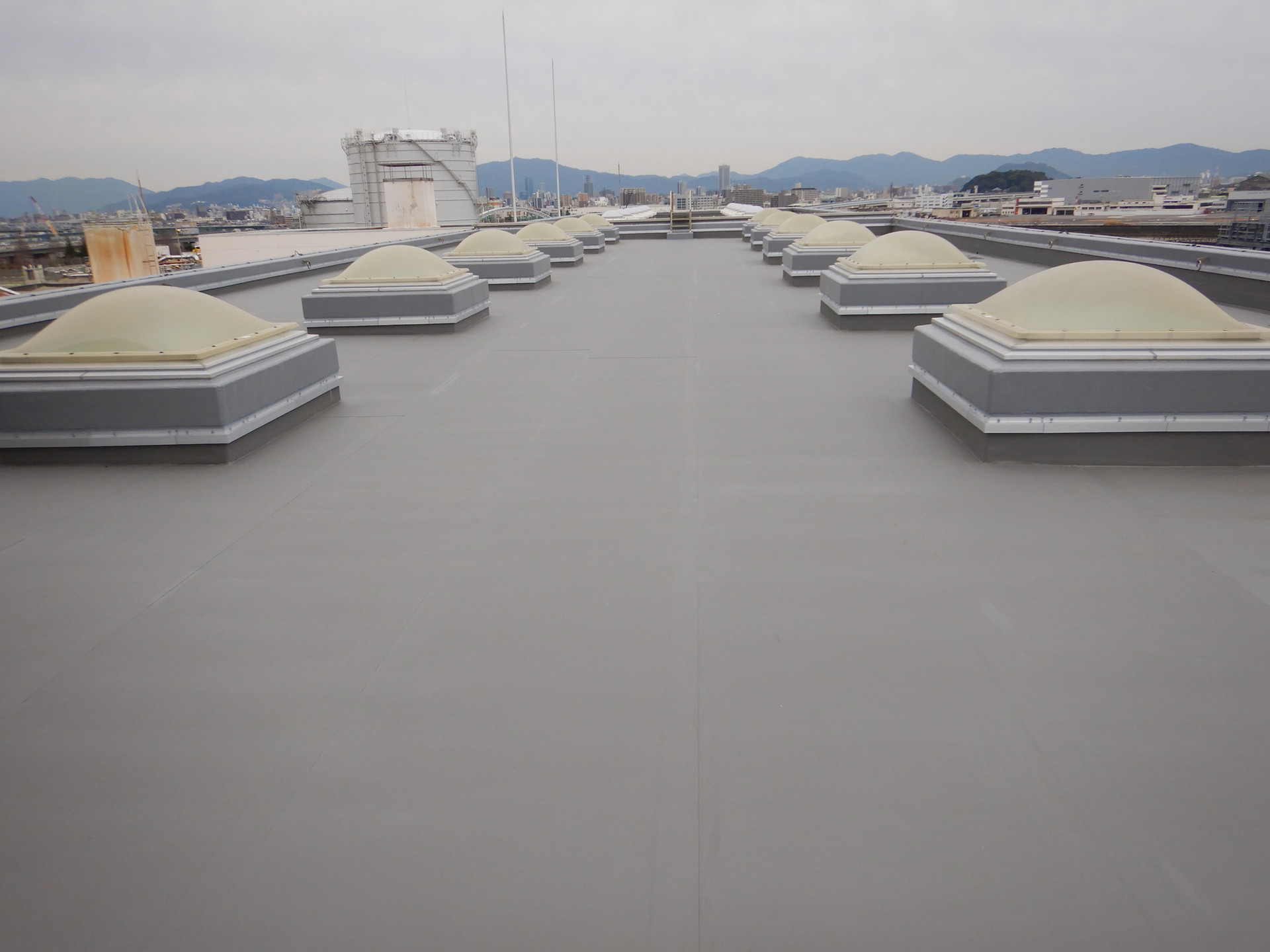 西部水資源再生センター汚泥棟屋上防水改修工事