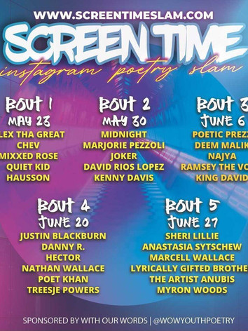 Screentime Slam Virtual Ongoing Every Sunday!!!!!