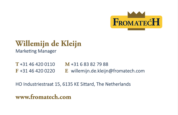 Back side Fromatech business card