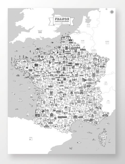 Carte de France à colorier
