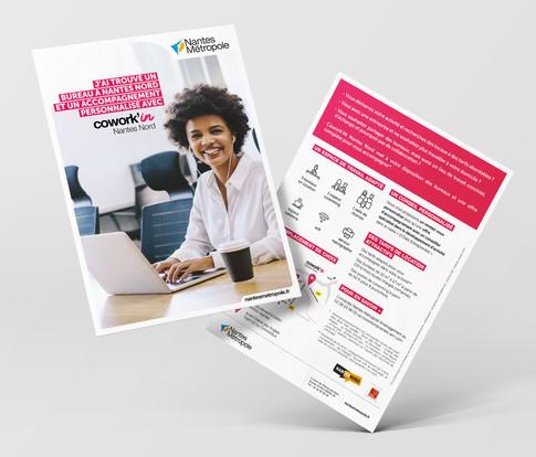 Cowork'in - Campagne de communication sur plusieurs espaces de coworking