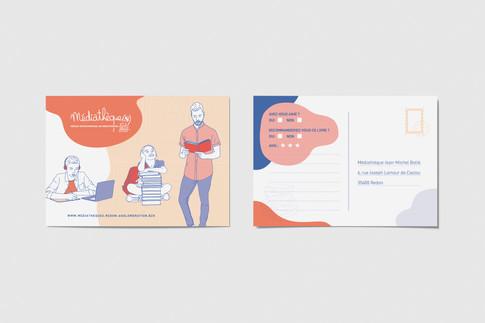 Recherches graphiques Carte postale / mediathèque