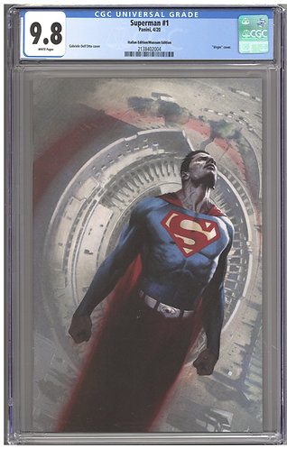 Superman #1 CGC 9.8 Italian Museum Edition Variant Dell'Otto Virgin Cover