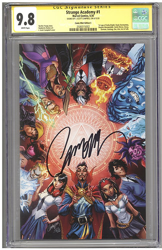 Strange Academy 1 CGC 9.8 SS Comic Mint Edition C J Scott Campbell Virgin Cover