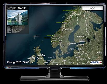 NavTV screenshot illustrated in computer monitor