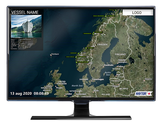 Screenshot of NavTV from NAVTOR on computer monitor